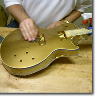 Finishing an electric guitar